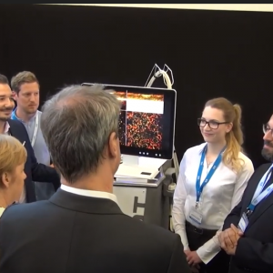 24 May 2019: Angela Merkel and Markus Söder visit the TUM to learn about new technologies including optoacoustic imaging