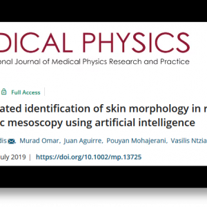17 July 2019: New INNODERM publication in the Journal of Medical Physics