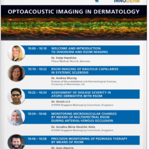 23 March 2021: Event Announcement – Optoacoustic Imaging in Dermatology webinar